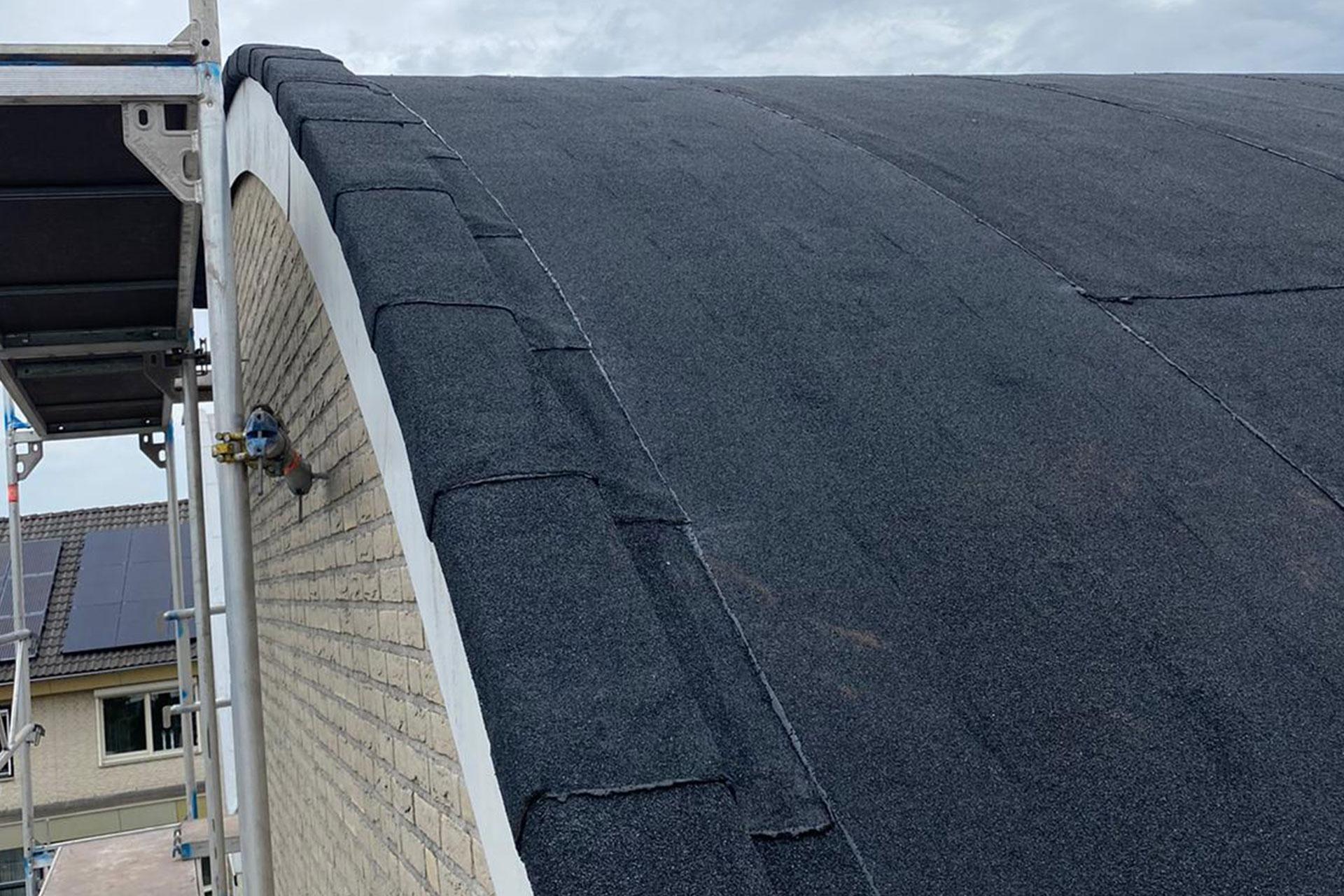 Rond dak Bitumen Tegelen
